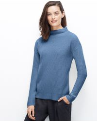 Ann Taylor Mock Neck Sweater - Lyst