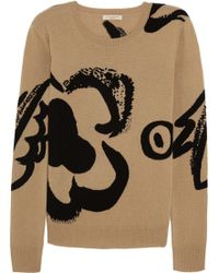 Burberry Brit Intarsia Wool and Cashmere Blend Sweater - Lyst
