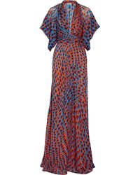 Issa Printed Silk Maxi Dress - Lyst