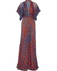 Issa Printed Silk Maxi Dress - Lyst