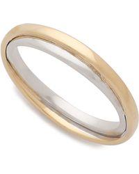 Monica Rich Kosann - Silver Lining Ring Charm - Gold/silver - Lyst