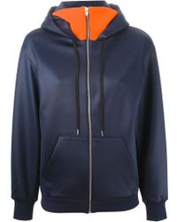 T By Alexander Wang Funnel-Neck Jersey Hoodie - Lyst