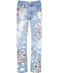 Rialto Jean Project - One Of A Kind Hand-painted Rose Vintage Boyfriend Jeans - Lyst