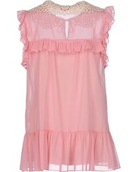RED Valentino Top pink - Lyst