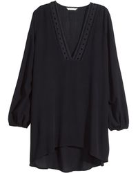 H&M Crinkled Tunic - Lyst