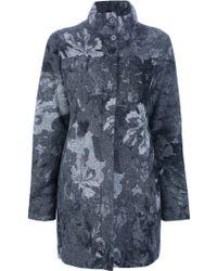 Isola Marras - Floral-Print Silk-Blend Coat - Lyst