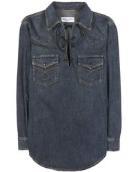 Saint Laurent Denim Shirt - Lyst