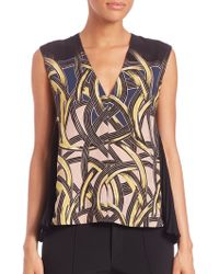 Yigal Azrouël | Side-pleated Silk Top | Lyst