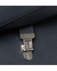 Valextra - Pebbled-Leather Messenger Bag - Lyst