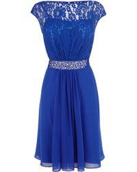 Coast - Lori Lee Lace Short Dress - Lyst