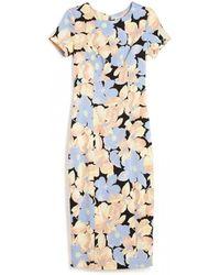 Suno Floral Midi Dress - Lyst