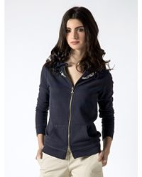 Patrizia Pepe Hooded Full Zip Sweatshirt - Lyst