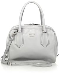 Prada Saffiano Gardener\u0026#39;S Tote Bag in Gray (GREY) | Lyst - prada galleria bag marble gray + white + baltic blue