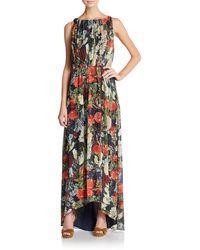 Alice + Olivia Wheaton Floral-Print Maxi Dress - Lyst