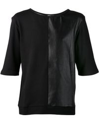 Ada + Nik - Rocky Cotton and Leather T-Shirt - Lyst