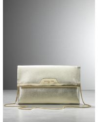 Patrizia Pepe Clutch Bag With Shoulder Strap - Lyst