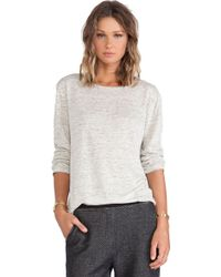 T By Alexander Wang Heather Long Sleeve Tee - Lyst