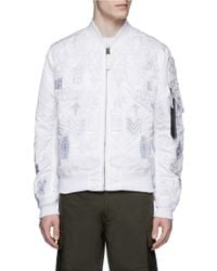 Marcelo Burlon | 'alpha Industries' Patch Embroidery Bomber Jacket | Lyst