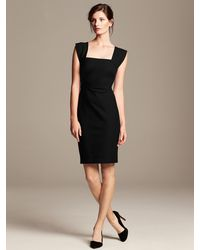 Banana Republic Roland Mouret Collection Strappy Sheath Br Black - Lyst