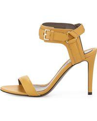 Jason Wu Leather Ankle-Cuff Sandal yellow - Lyst