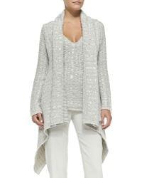 Donna Karan New York Cashmere Draped Chunky-knit Cardigan - Lyst