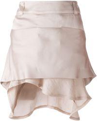 Haider Ackermann Ruffled Hem Skirt beige - Lyst