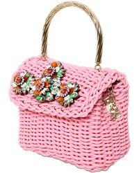 Shourouk - Embellished Brigitte Woven Bag - Lyst