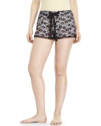 Flora Nikrooz Snuggle Lace Shorts - Lyst