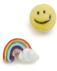Venessa Arizaga - Rainbow Smile Earrings - Rainbow - Lyst