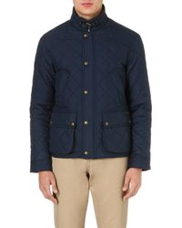Ralph Lauren Cadwell Quilted Bomber Jacket Navy - Lyst