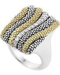 Lagos Soiree Caviar Wave Diamond Ring - Lyst