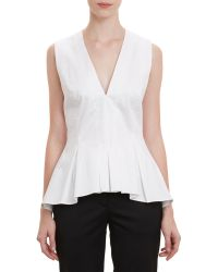Thakoon Fitted Peplum Top - Lyst