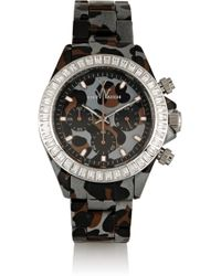 Toy Watch - Chronograph Leopard-Print Plasteramic Watch - Lyst