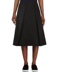 Studio Nicholson - Black Spotted Jacquard Montego Skirt - Lyst