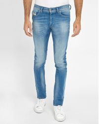 DIESEL | Faded Blue Washed Thepphar Jeans | Lyst