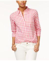 American Living - Gingham Button Down Shirt - Lyst