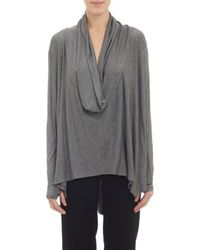Barneys New York Cowl Neck Over Size Swing Top - Lyst