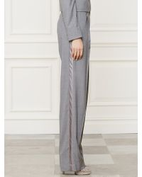 Ralph Lauren Collection Wool Vivian Tuxedo Pant - Lyst