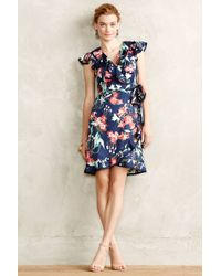 Karen Walker - Hibiscus Wrap Dress - Lyst