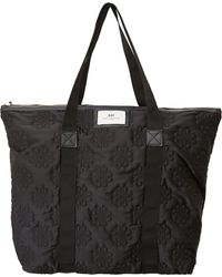Day Birger Et Mikkelsen Large Black Gweneth Sign Larg Tote Bag - Lyst