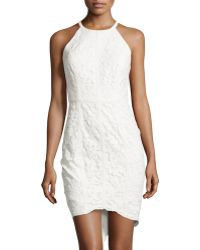 Cynthia Steffe Lace Sleeveless Sheath Dress white - Lyst