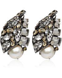 Iradj Moini - Citrine Quartz and Pearl Clipon Earrings - Lyst