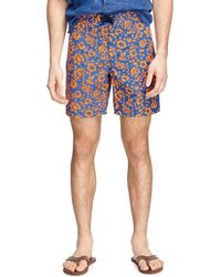 """Brooks Brothers 8"""" Floral Board Short - Lyst"""