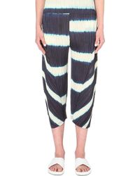 Pleats Please Issey Miyake Striped Pleated Trousers - For Women - Lyst