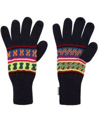 Penfield - Navy Mera Neon Knitted Gloves - Lyst