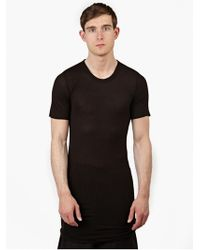 Rick Owens Men'S Black Long-Length T-Shirt - Lyst
