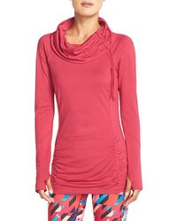 Zella - 'all Out' Ruched Pullover Top - Lyst