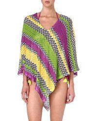 Missoni Crochetknit Poncho Purple - Lyst