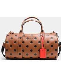 COACH - Barrel Bag In Saddle Dot Leather - Lyst