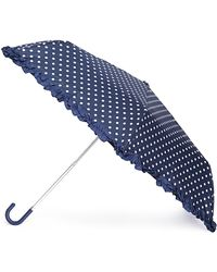 Forever 21 - Polka Dot Ruffled Travel Umbrella - Lyst
